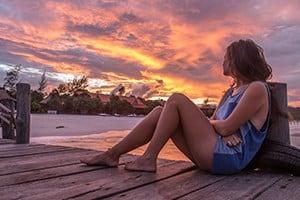 Sunset at Sok San Beach