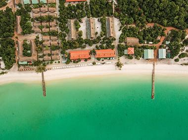 Sok San Beach Resort aerial view