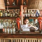 Sun Deck Beach Bar girl doing cocktail