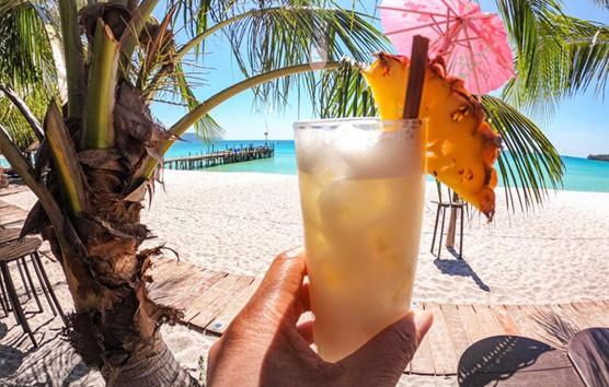 Pineapple cocktail at Sun Deck Beach Bar