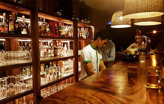 Night waiter at Sun Deck Beach Bar