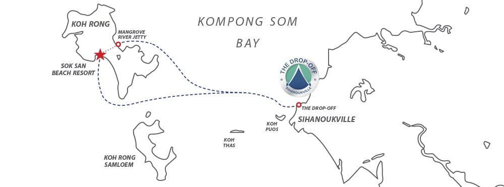 Getting to Koh Rong Map