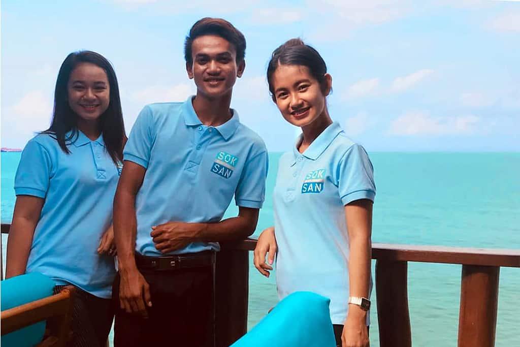 three staff at the drop-off